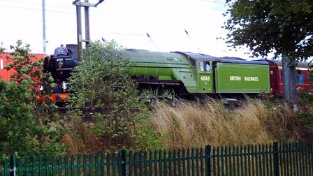 Gippeswyck Park is a good place to see Flying Scotsman on Saturday this was Tornado pictured from t