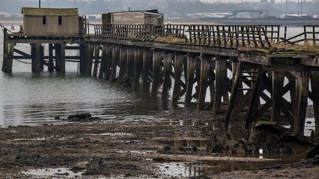 Shotley Pier has fallen into disrepair but it is hoped to be restored. Picture: ARCHANT LIBRARY