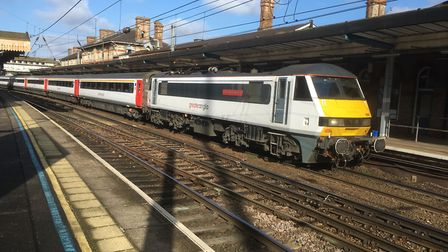 Greater Anglia services were disrupted - but not as a result of the RMT strike, Stock Image