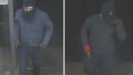 CCTV images of two men police want to speak to in connection with an armed robbery in St Christopher
