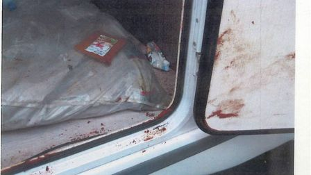 Chilli powder was scattered around the scret compartment in an attempt to confuse sniffer dogs. Pict