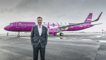 Sk�li Mogensen, chief executive and founder of WOW Air. Picture: SIGURJAN RAGNAR