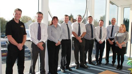 BDK management team members from left, technical manager Richard Robson, director Nick Falconer, ac