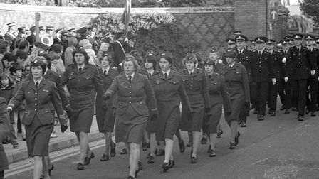 Part of the remembrance parade in 1979
