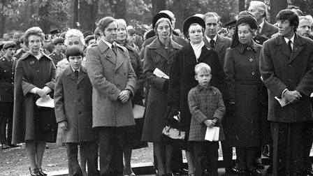 Crowds gathered at the Remembrance Day service to pay their respects in November 1979