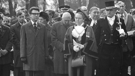 The Mayor of Ipswich attended the service in November 1979