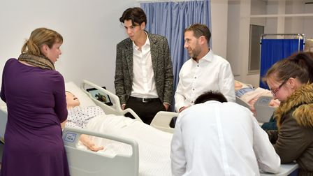 New hospital ward with robotic patients for healthcare students at the University of Essex. Picture: