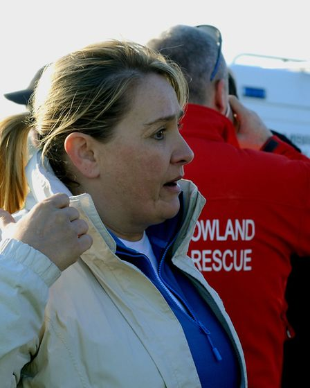 Nicola Urquhart at one of the SULSAR searches for Corrie McKeague. Picture: ANDY ABBOTT