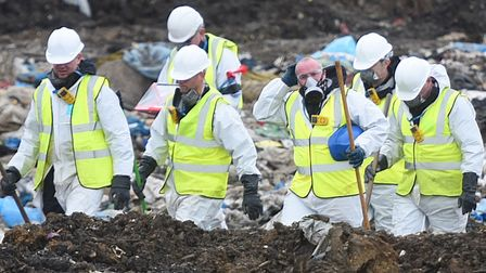 Police resumed the search for missing airman Corrie McKeague at the Milton Landfill site in Cambridg