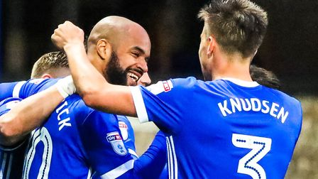 Knudsen and David McGoldrick could go head-to-head in a bid to reach the World Cup. Picture: STEVE W