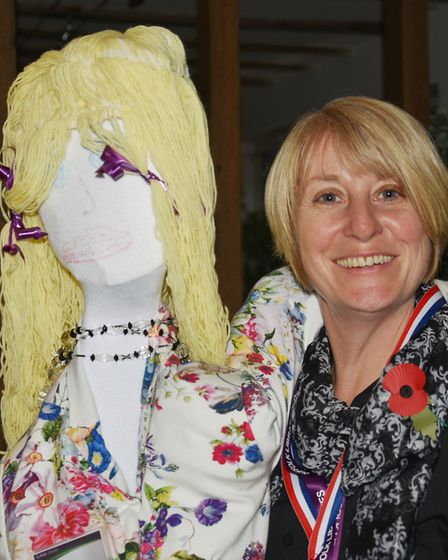 Third place in the guy competition went to Julie Thomson with her 'Lucy the Librarian' guy (or gal)