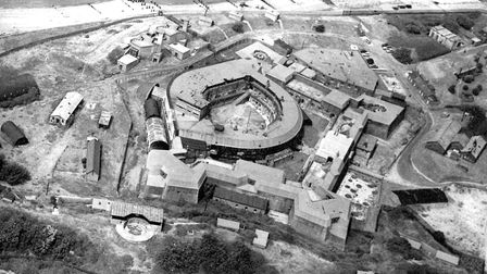 Landguard Fort, Felixstowe in the 1950s. The last soldiers left in 1957. Picture: ARCHANT