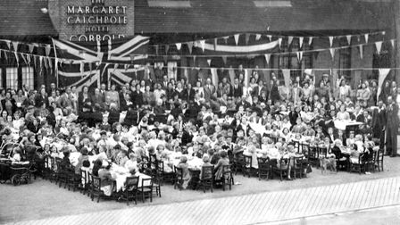 Reader, Joan Worman, sent this photograph of a party held at the at the Margaret Catchpole public ho