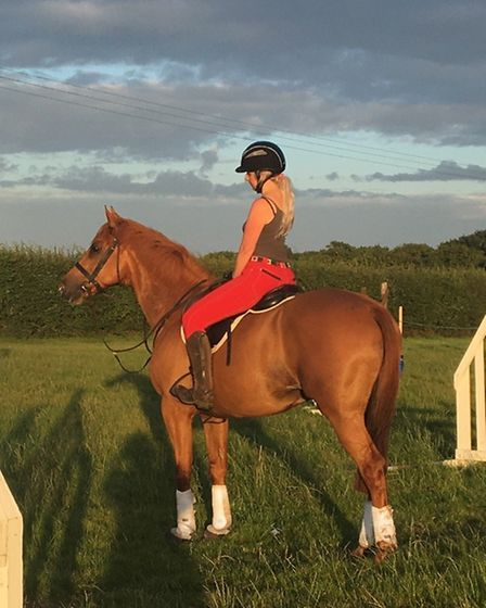 A rider and her horse, out in Suffolk. Picture: ROBERTA BRADBY