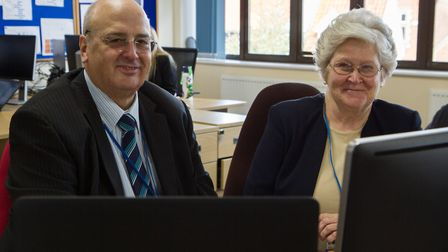 Nick Gowrley , leader of Mid Suffolk District Council and Jennie Jenkins, leader of Babergh District