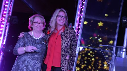Diana Porter receiving her Special Recognition Award from Minnie Moll from the Co-op. Picture: SAR