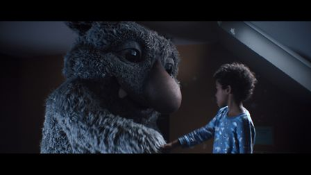 A still from the eagerly anticipated John Lewis Christmas campaign, which features a young boy and h