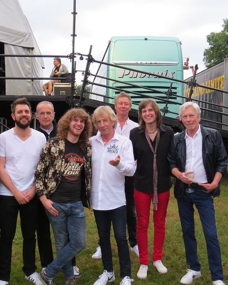 Walkway with legends Status Quo, including the late Rick Parfitt. Picture: Michael Ready