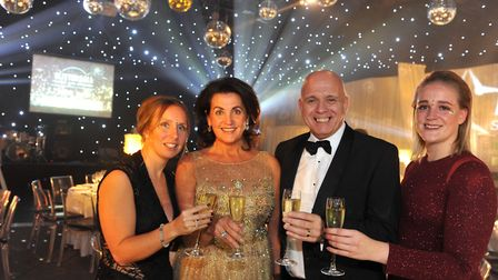 The Inspire Suffolk & Gee Wizz Glitter Ball at The Hangar, Kesgrave Hall. Event organisers Crystal
