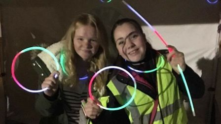 Lily Gaywood and Imogen Cutler are all a-glow. Picture: DEBRA GAYWOOD
