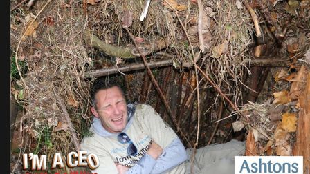 John Dugmore, CEO of Suffolk Chamber of Commerce, gets the I'm a Celebrity-style treatment. Picture:
