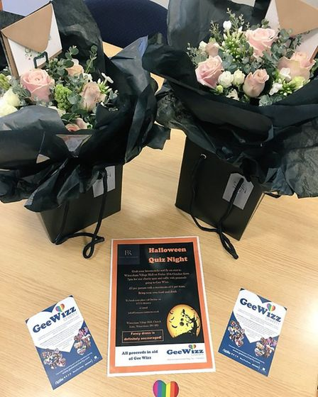 Dan Preston and James Mortlock, of Tudor Rose, Bury St. Edmunds, donated lovely 'Thank you bouquets'