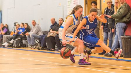 Ipswich's Amy Linton competing for a loose ball in their big win over Mansfield. Picture: PAVEL KRIC