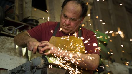 Sergio Muelle making the sparks fly. Picture: SARAH LUCY BROWN