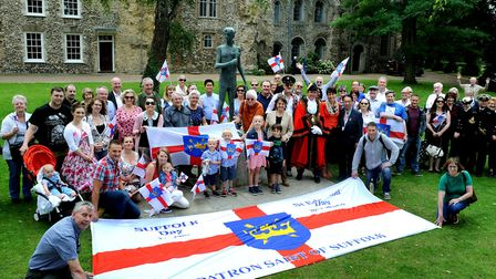 The town has been out in force to support St Edmunds day celebrations. PICTURE: Andy Abbott