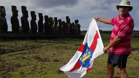 Colin Taylor on Easter Island. PICTURE: Yvonne Taylor