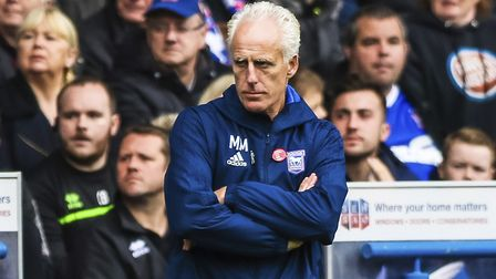 Town manager Mick McCarthy pictured during the Ipswich Town v Norwich City match. Picture: STEVE WA