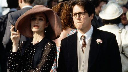 Kristin Scott Thomas and Hugh Grant in Four Weddings and a Funeral which is being remade as an Ameri