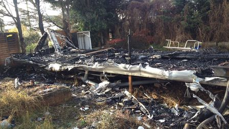 Crews arrived at the scene to find the static caravan '100% alight'. Picture: GINA WILLIAMS