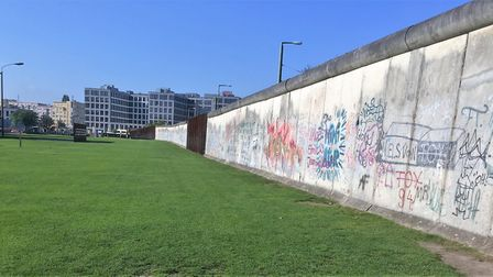 A surviving section of the Berlin Wall in is now a memorial park. Picture PAUL GEATER