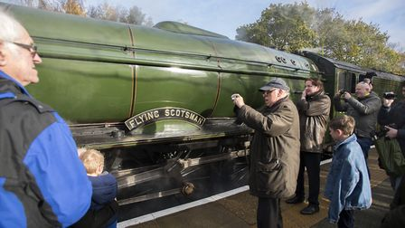 The weather was perfect to get a picture of Flying Scotsman. PICTURE BY ASHLEY PICKERING/ANGLIA PIC