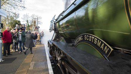 Flying Scotsman preapres to leave Westerfield to return to Norwich. PICTURE BY ASHLEY PICKERING/ANGL