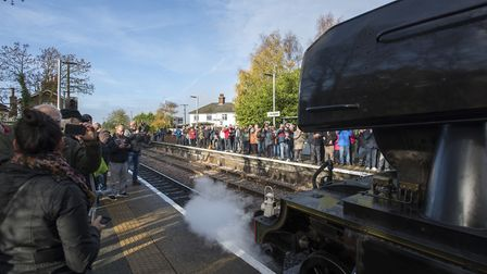 Westerfield station has never seen so many people! PICTURE BY ASHLEY PICKERING/ANGLIA PICTURE AGENCY