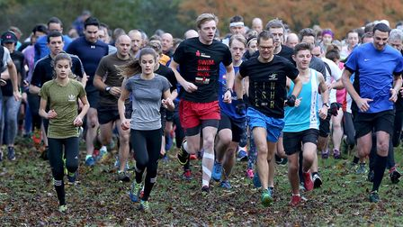 Off and running at Saturday's Bury St Edmunds Parkrun. Twin sisters Millie and Maddie Jordan-Lee are