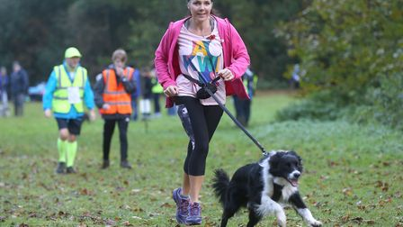 Dogs as well as runners, joggers and walkers are welcome at the weekly Bury St Edmunds Parkrun. Pict