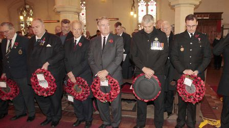 NB 017 Kelsale Methodist Church, Saxmundham Remembrance Day.Picture:NIGE BROWN.