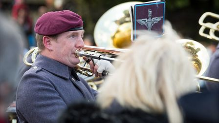 Paratroopers stood shoulder-to-shoulder with the people of Colchester to mark Remembrance Sunday. Pi