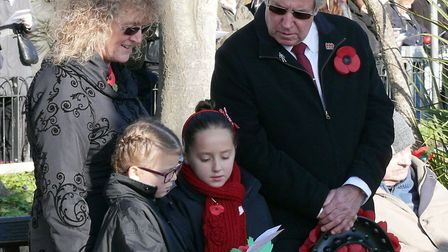 Thousands visited Clacton's Memorial Gardens for the Remembrance service on Sunday. Picture: NIGEL B