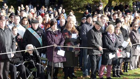 NB 017 Ipswich Remembrance Sunday service at the War Memorial,Christchurch Park.Picture:NIGE BROWN.