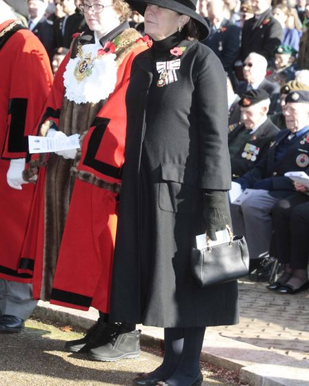 NB 017 Ipswich Remembrance Sunday service at the War Memorial,Christchurch Park.Lord Lieuentant of S