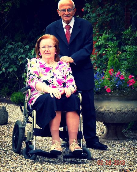 Jack Hinton pictured with his wife Anne, who died in April last year. Picture: HINTON FAMILY
