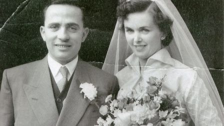 Jack and Anne Hinton pictured on their wedding day in 1954. Picture: HINTON FAMILY