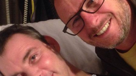 Mark Millar, the build manager on DIY SOS, pictured with Simon Dobbin, whose home he will be improvi