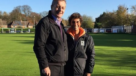 Fatima Whitbread with Pat Lewis, general manager at the Risbygate Sports Centre