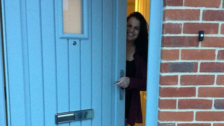 Zoe Birch at her new home in Risby. Picture: SUFFOLK HOUSING