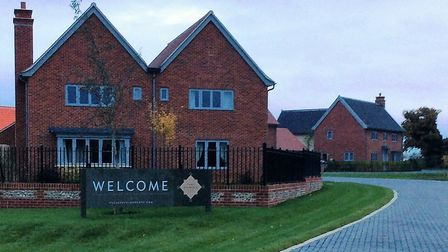 The homes in Risby, near Bury St Edmunds. Picture: SUFFOLK HOUSING